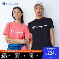 Champion冠军T恤短袖男女同款夏潮流印花圆领情侣装官网旗舰店