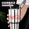 MINISO 名创优品 可口可乐系列 304不锈钢保温杯吸管杯 850ml 复刻经典