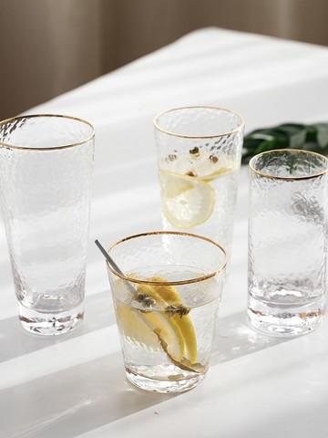 花语四季  日式锤纹玻璃杯 300ml