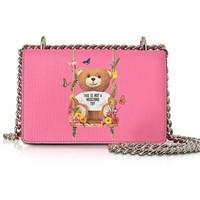 MOSCHINO Teddy Bear Pink Eco 女士链条单肩包