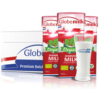 荷兰原装进口 荷高(Globemilk) 有机脱脂纯牛奶200ml*24整箱装 3.8乳蛋白+凑单品