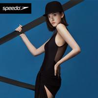 Speedo/速比涛 宋祖儿同款全新电气矩阵系列DMX-101肌理感女子连体泳衣 8127870001 黑色 36