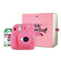 富士instax立拍立得 一次成像相机 mini9 (mini8升级款) 限量礼盒 火烈鸟粉(含10张相纸)