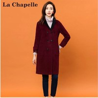 La Chapelle 拉夏贝尔 30074190 女士双排扣羊毛呢大衣