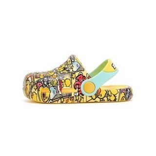 B.Duck 小黄鸭 1B2J07A5925 儿童拖鞋 黄色 18