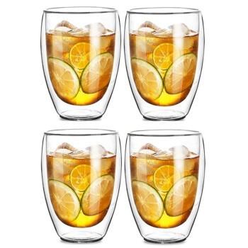 Le Bronte 朗特乐  高硼硅双层玻璃杯 350ml 4只装