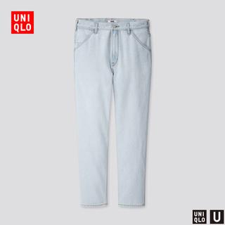 UNIQLO 优衣库 425778 男装 宽腿窄口牛仔裤