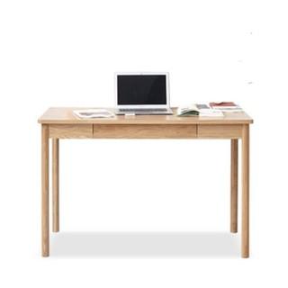 VISAWOOD 维莎原木 w0202 日式实木书桌 (0.9m 单抽屉)