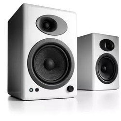 Audioengine 声擎 A5+W 书架式有源音箱 高光白
