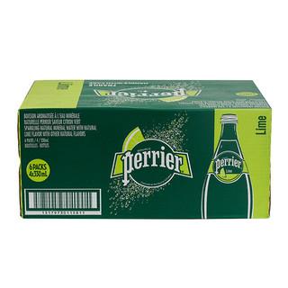 Perrier 巴黎水 气泡水 青柠味 330ml*24瓶