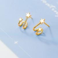 Jumphinze 匠芊泽  JQZ-0027 s925银双子星U形耳钉