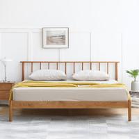 聚划算百亿补贴:VISAWOOD 维莎原木 N0469 全实木床现代床 1.5/1.8m