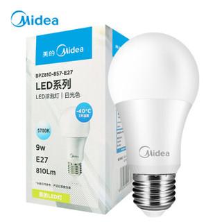 Midea 美的 LED球泡 E27螺口 日光色 9W *17件