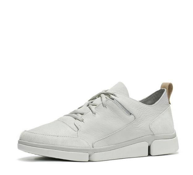 clarks 其乐 TriVerve Lace 261410287 男士休闲鞋 白色 41(uk7)