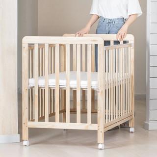 QBORN 贝影随行 BB01SS 多功能婴儿床 原木色