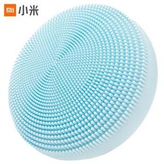 米家 小米声波洁面仪 硅胶材质 防伤皮肤技术 细密柔软刷毛 防尘履行收纳盒 蓝色