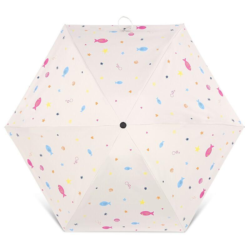 移动端 : Paradise 天堂伞 超轻黑胶五折口袋伞