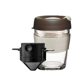 Le Bronte 朗特乐 双层滤网手冲咖啡杯套装 黑色