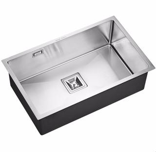 ARROW 箭牌卫浴 箭牌(ARROW)手工水槽大号单槽厨房304不锈钢加厚橱柜水池洗碗盆洗菜盆家用台上台下盆70*43