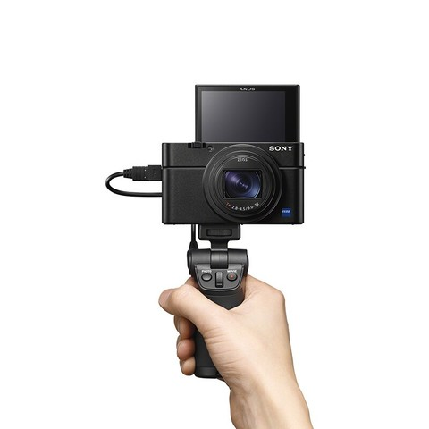 SONY 索尼 DSC-RX100M7 黑卡数码相机 黑色 vlog手柄套装