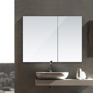 HEGII 恒洁 HBS0003 多功能浴室镜柜 亮白色 85cm