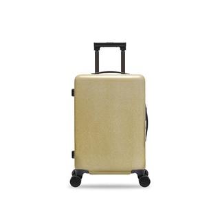 网易严选 行李箱登机箱20寸 星空 纯PC铝框 万向轮耐磨抗压轻便 芥末黄
