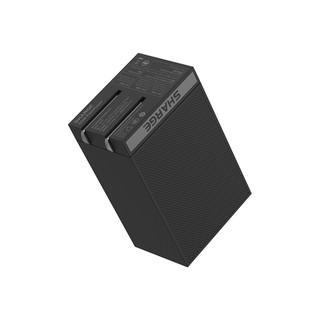 SHARGE 闪极 S065 氮化镓三口充电器 65W(2C1A)  黑色