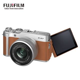 FUJIFILM 富士 X-A7 微单相机 套机 15-45mm 星光棕