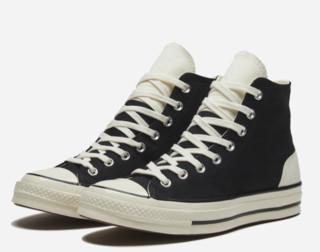 CONVERSE 匡威 Chuck 70 167910C 男女款高帮帆布鞋 黑/米白 37.5
