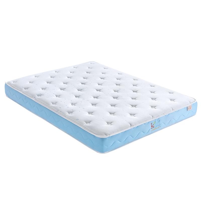 金可儿成长 儿童乳胶床垫七区袋装弹簧护脊床垫 蓝钻启赋