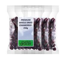 the market grocer 天然精制蔓越莓干 250g*3袋