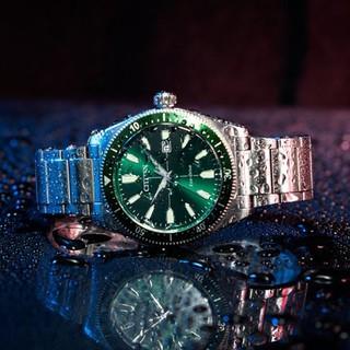 CITIZEN 西铁城 光动能系列 AW1598-70X 42mm 男士光动能手表 绿盘 银色不锈钢带 圆形