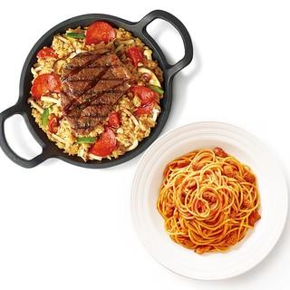 必胜客 澳洲西冷牛排铁锅饭+经典意式肉酱面 电子券码