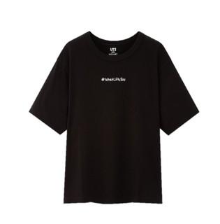 UNIQLO 优衣库 URBAN WALLS 427990 女士印花T恤 黑色 S