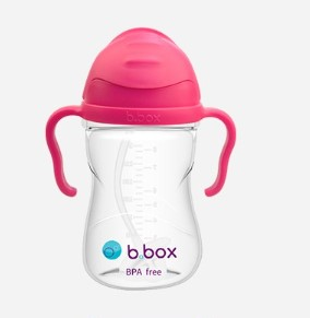 b.box 饮用系列 AK00001分 儿童吸管杯 玫红色 240ml