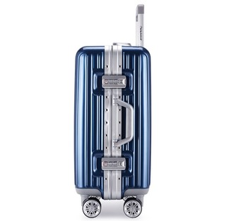 Diplomat 外交官 镜面箱子铝框拉杆箱万向轮登机箱行李箱男女旅行箱密码箱TC-9032 蓝色 20英寸