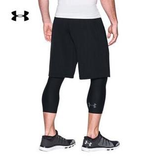 安德玛官方UA Armour男子运动紧身裤七分裤Under Armour1289574 黑色001 M