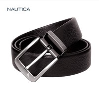 诺帝卡/NAUTICA新品针扣层牛皮革腰带宽30mm
