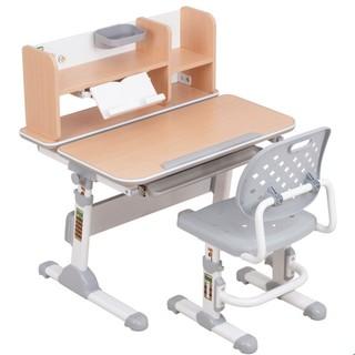 easy life 生活诚品 AU900  儿童桌椅套装 书桌+书架+单背椅 木纹色