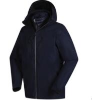 探路者冲锋衣男秋冬户外三合一羽绒内胆可拆加厚冲锋衣KAWG91113