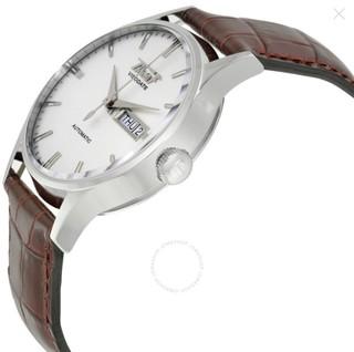 TISSOT 天梭 Heritage 男款机械腕表 (圆形、皮革、银、40mm)