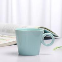 京东PLUS会员 : 承文阁 咖啡杯简约创意北欧风陶瓷杯办公室茶杯水杯牛奶杯马克杯情侣杯子蓝色C-B053 *16件