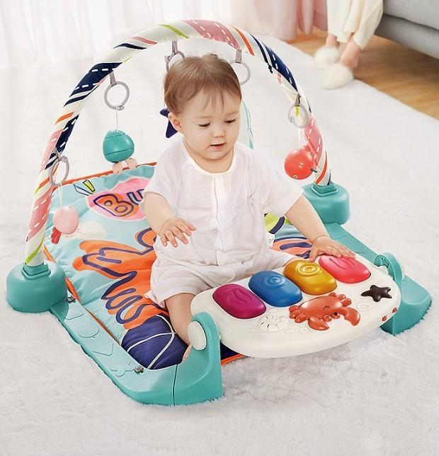 BabyCare 嬰兒健身架腳踏鋼琴早教游戲毯