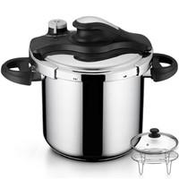 铂帝斯(BODEUX)金星1号系列高压锅8L配蒸煮套装  304不锈钢明火燃气电磁炉通用