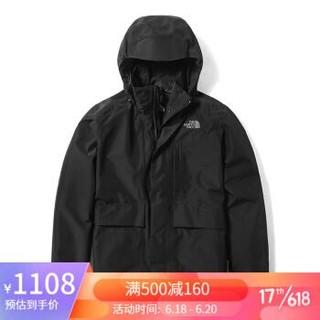 TheNorthFace北面2020春季防水透气冲锋衣男户外|46L6 JK3/黑色 L