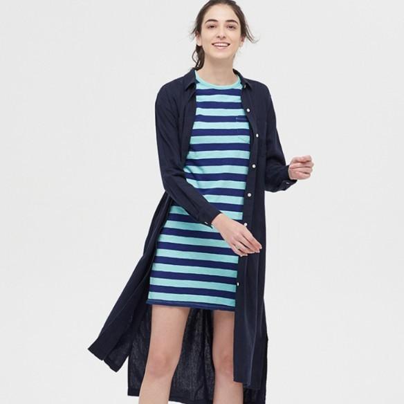 Gap 盖璞 577659 女士衬衫式连衣裙