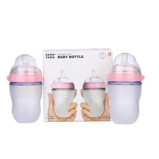 COMOTOMO  可么多么 婴幼儿宽口径硅胶奶瓶 250mlx2  *2件