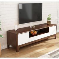 北欧实木电视柜现代简约小户型客厅影视柜胡桃色卧室电视机柜地柜