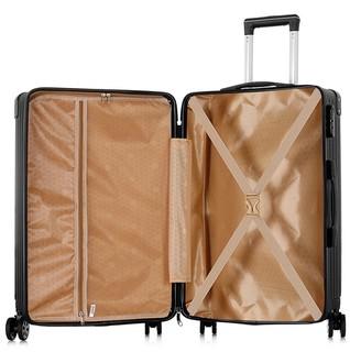 南极人(NanJiren)拉杆箱万向轮耐磨抗摔行李箱复古款男士女士轻盈大容量旅行箱 24英寸黑色