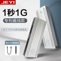 佳翼 M.2 NVMe移动硬盘盒 TYPE-C3.1 镁铝合金 笔记本电脑ssd固态m2硬盘盒子 i9-GTR 2230-80|藏线款